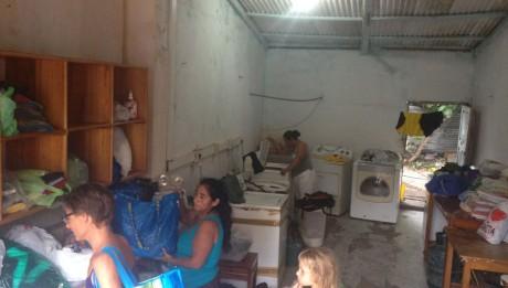 Waschsalon auf St. Cruz auf Galapagos